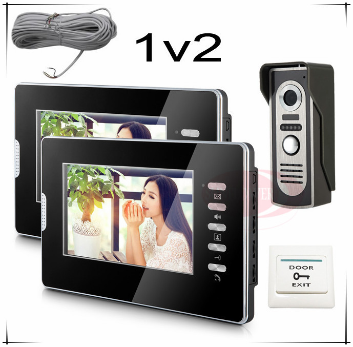 1v2 New 7inch video intercom smartphone+Door exit free shipping to most countries one year warranty(China (Mainland))