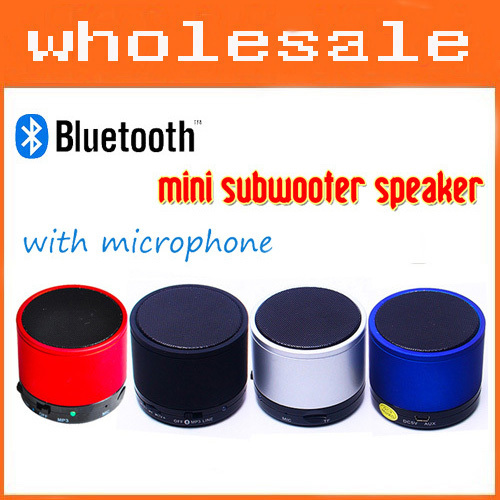 Mini Speaker Portable Bluetooth Wireless Speaker Stereo LINE IN Sound Box Music Player With Phone Call MIC Free Shipping(China (Mainland))