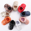 New Double Deck Tassel Winter Baby Pu Leather Infant Boots First Walkers Baby Moccasins Newborn Princess