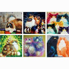 Buy 2016 Newest Diamond Embroidery Cat DIY 5D Diamond Painting Needlework Cross Stitch Full Drill Rhinestones Painting wall sticker for $2.94 in AliExpress store