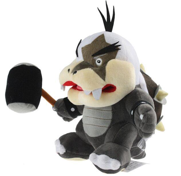 EMS 80pcs/lot Super Mario Koopalings Morton Koopa With Hammer Stuffed Plush Toy Stuffed Dolls With Tag Wholesale<br><br>Aliexpress