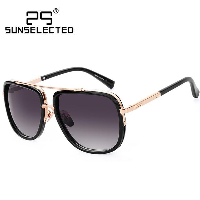 Металлический Квадрат Солнцезащитные Очки Женщины Мужчины солнцезащитные очки винтаж ...