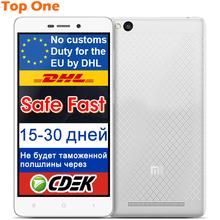 "Original Xiaomi Redmi 3 2G RAM 16G ROM  Metal Body 4100 mAh Snapdragon 616 Octa Core 64 bit 5"" 1280X720 FDD LTE Mobile Phone(China (Mainland))"
