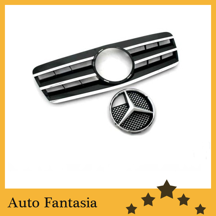 Black Style Front Center Grille - for Mercedes Benz CLK Class W208(China (Mainland))