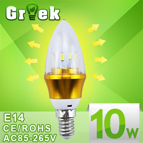 10pcs/lot 3w 4w 5w 9w 12w 15w led candle light bulb lamp tubes e14 e27 Warm White Cool White led 110v 220v candle free shipping(China (Mainland))