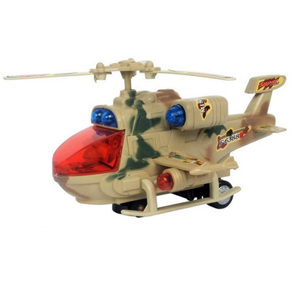 New Arrival Plastic Aircraft model Music Electric Light Camouflage Helicopter Planes Aircraft Model Toy FCI#(China (Mainland))