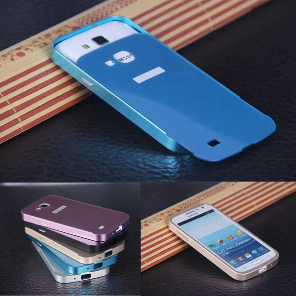 Luxury Metal Aluminum+PC Hard Back Skin Cover Pull Out Protective mobile Phone Case Cover For Samsung GALAXY Premier I9260 i9268(China (Mainland))