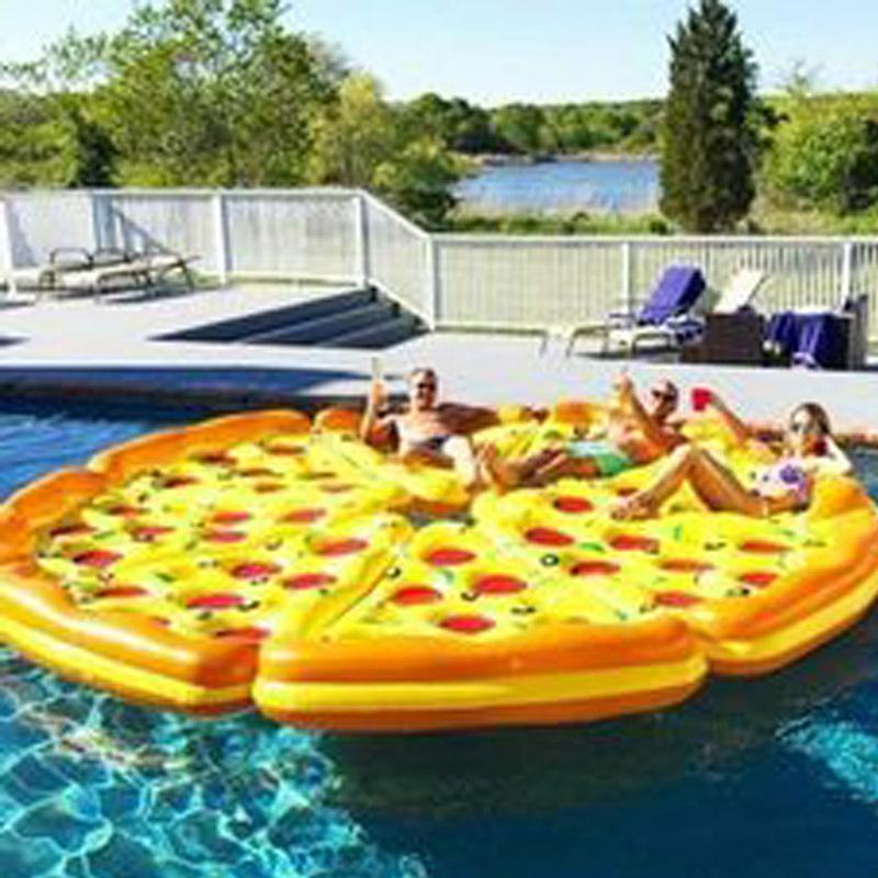 8 шт./лот 72 дюймов гигантский вся пицца бассейн игрушка плавать надувной  пиццы плавание поплавок для бассейн водные развлечения бассейн игрушки