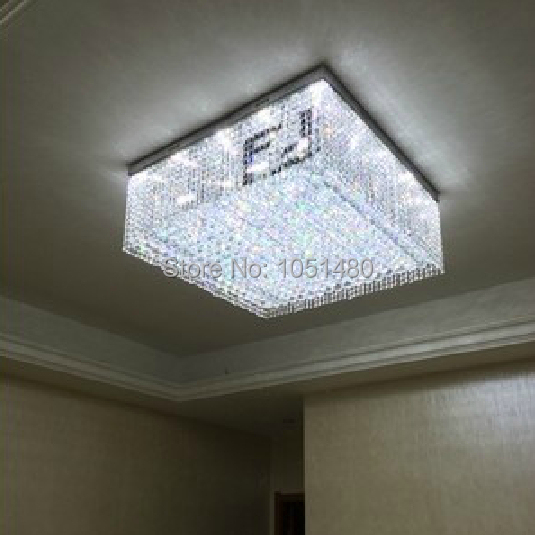 New Design Ceiling Lights : New design square crystal ceiling lighting light fixtures