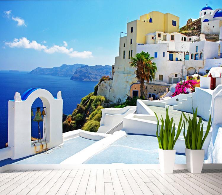 Online kaufen gro handel large landscape aus china large - Mediterrane wandbilder ...