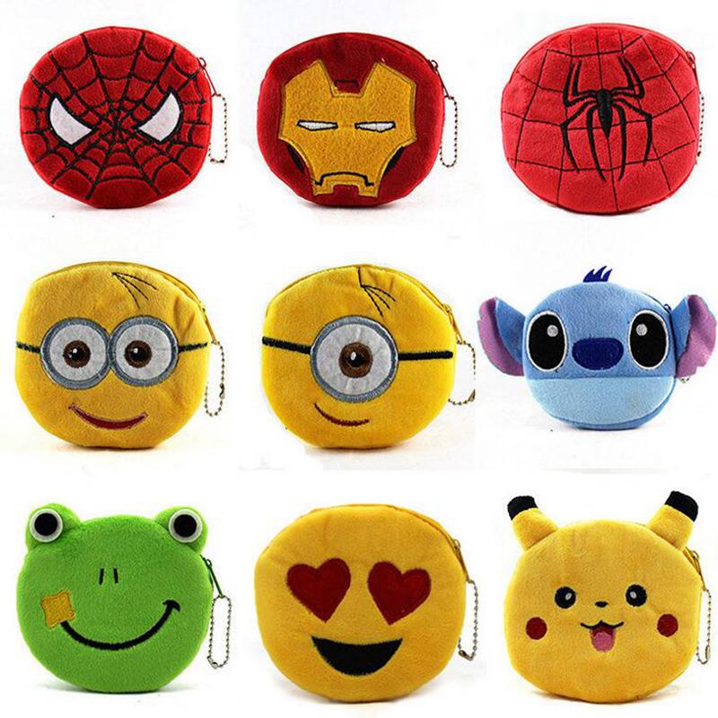 Cute Cartoon Pokemon Go Pikachu Plush Coin Purse Children Zipper Change Purse Wallet Hello Kitty Minions Pouch Bag For Kids Gift(China (Mainland))