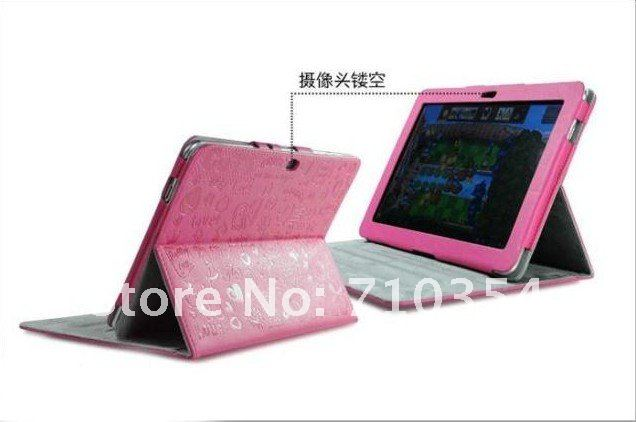 """DHL/EMS Free Shipping 10X Magical Girl Leather case cute stand cover protector skin for Samsung Galaxy Tab 10.1"""" P7510/P7500(China (Mainland))"""
