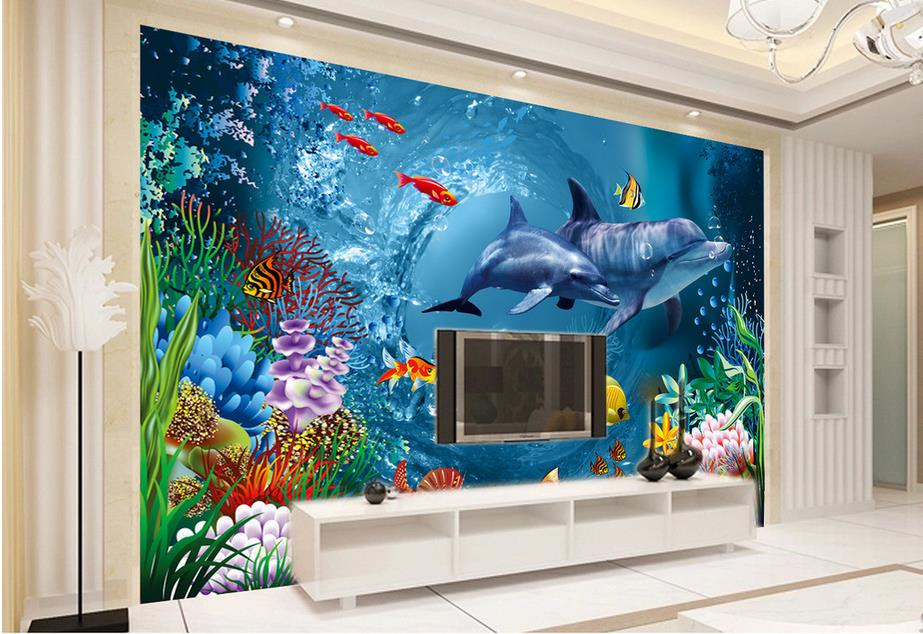 Online get cheap underwater wallpaper murals aliexpress - Stickers salle de bain castorama ...