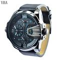 2016 YBA Brand Fashion Men Sports Watches Men s Quartz Hour Date Clock Man Leather Strap