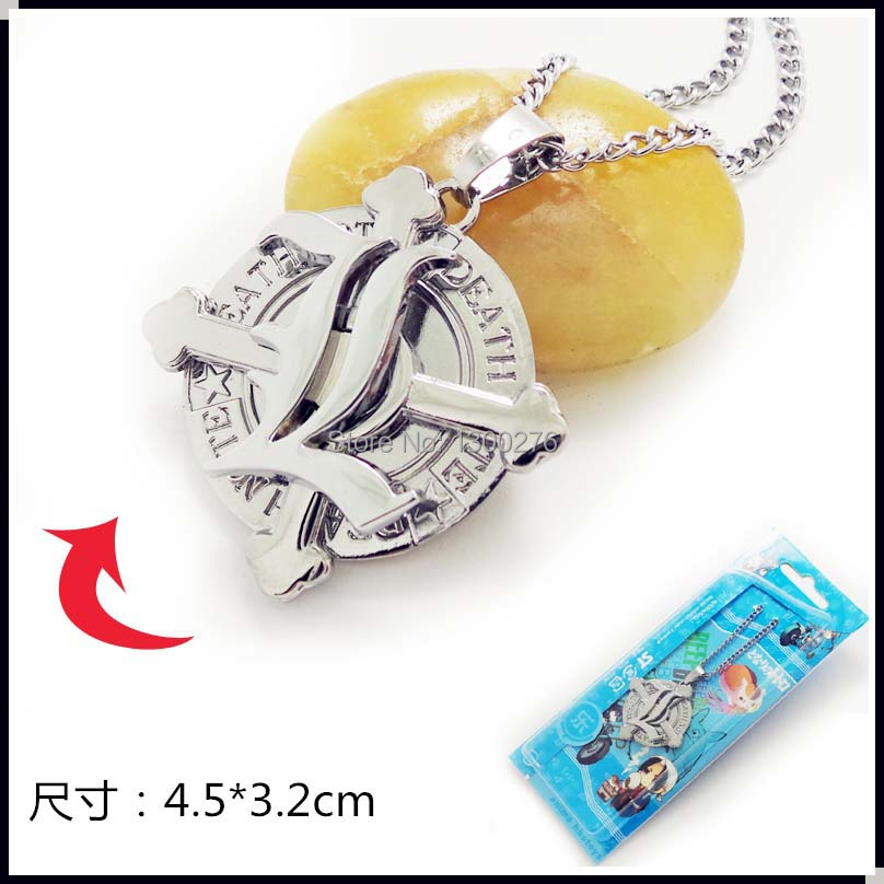 5pcs/lot wholesales Christmas gift Cartoon Movie TV Death Note L.LAWLIET metal figure pendant necklace cospaly logo chain(China (Mainland))