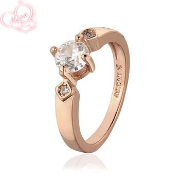 R646-8 Wholesale High Quality Nickle Free Antiallergic New Fashion Jewelry 18K Gold Plated Ring