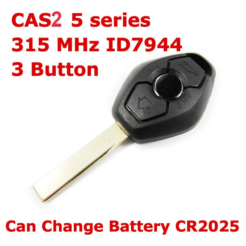 FREE SHIPPING 2pcs/lot 3 Buttons Smart Remote Key ID7944 315LPMHZ/315MHZ/434MHZ/868MHZ FOR BMW CAS2 5 Series(APPLIES TO E60)(China (Mainland))