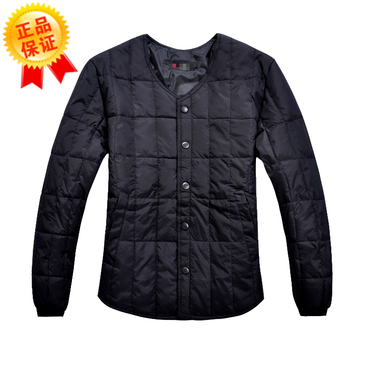 Male down coat liner quinquagenarian thickening thermal long-sleeve men's clothing innerwear(China (Mainland))
