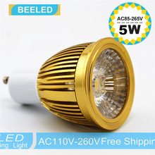 Buy 110V 220V 3W 5W 7W COB GU10 LED Bulb Light Dimmable Led Spotlights Warm/Natural/Cool White GU10 LED lamp bulb Gold body silver ) for $2.15 in AliExpress store