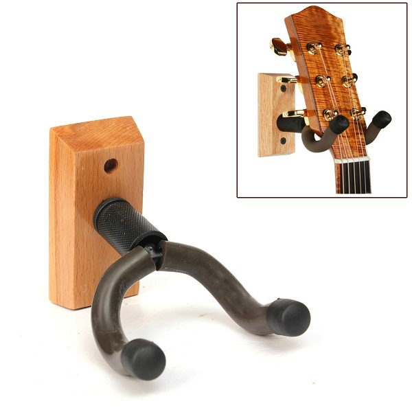 Wooden Base Guitar Hangers Wall Mount Hooks Stand Holder Musical Instrument(China (Mainland))