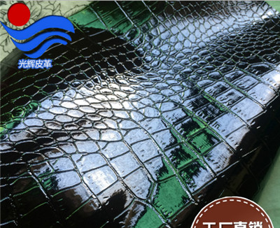 PVC high light crocodile bamboo shaped cosmetic bag packing fabric for leather wallet(China (Mainland))