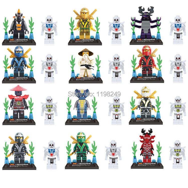 Baby Toys LELE 78011 24pcs/set Cole Jay Kai Lloyd Minifigures Building Blocks DIY Educational Elighten Bricks Toy - Weijinda Crafts store