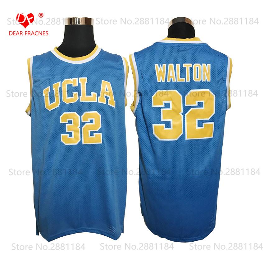 2017 Mens Cheap Basketball Throwback Bill Walton Jerseys #32 UCLA College Basketball Jersey Blue Vintage Stitched Shirts Center(China (Mainland))