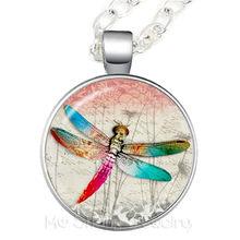 Dragonfly ช้างชีวิตต้นไม้สร้อยคอนาฬิกา Vintage แว่นขยายแฟชั่นสัตว์ Cool (China)