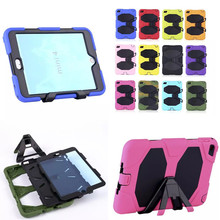 WES Fashion Hybrid Kickstand Gel Soft Silicone PC Shock Proof Case Stand Cover Protector for iPad Mini 4 mini4 2015 Tablet 7.9''(China (Mainland))