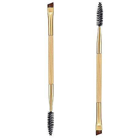by DHL or EMS 1000pcs Professional cometic makeup brushes tools bamboo handle double eyebrow brush + eyebrow comb makeup brushe(China (Mainland))