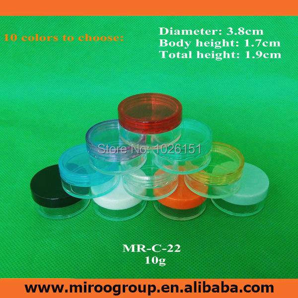 150pcs High Quliaty 10g plastic clear container cosmetic cream jar mini plastic jar sample jar display