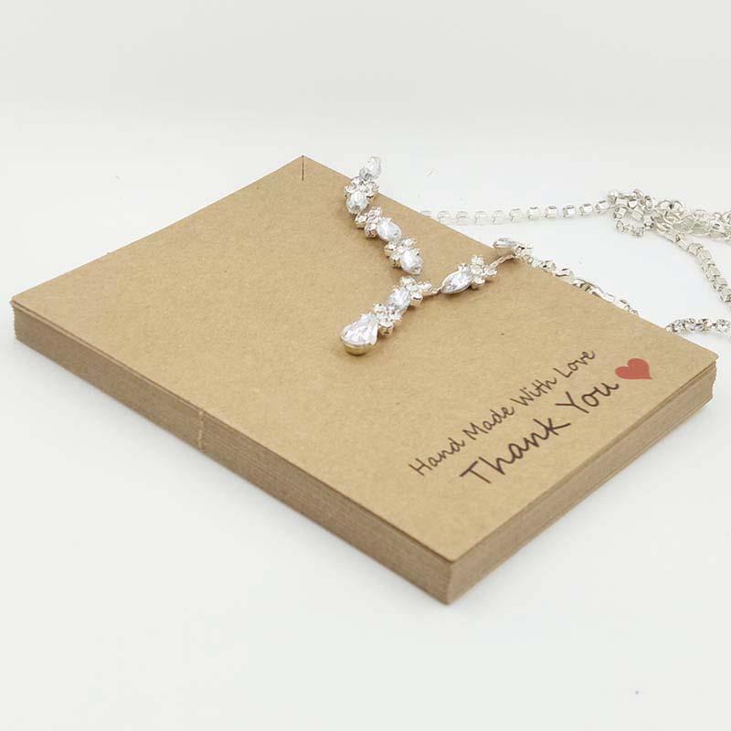 2017-New-Hot-HandMade-With-Love-Pendant-Card-10X8CM-Kraft-Pendant-Card-Necklace-Card-1lot-100 (1)
