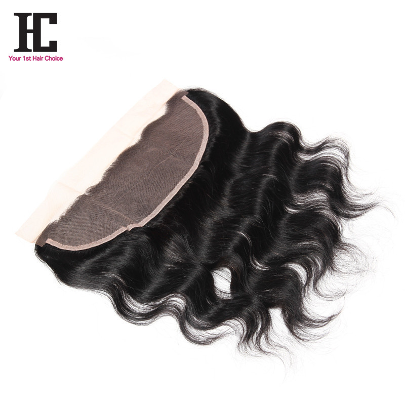 Full Frontal Lace Closure 13x4 Baby Hair Grade 7A Brazilian Body Wave Frontal 100% Human Hair Frontal Closure Fash Shipping HC
