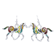 MS1504258 Fashion Jewelry High Quality Gold Plated Multicolor Horse Design Woman's Necklace Earrings Wedding Jewelry Party Gifts