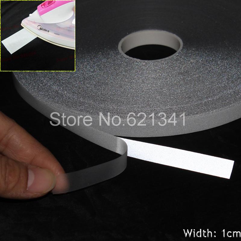10mm*10m Silver Reflective Fabric Tape Reflective Heat Transfer Film Iron On(China (Mainland))