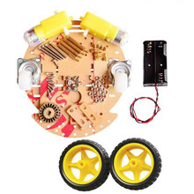Buy DIY Two Wheel Drive Round Double-Deck Smart Robot Car Chassis Kit Arduino for $10.50 in AliExpress store