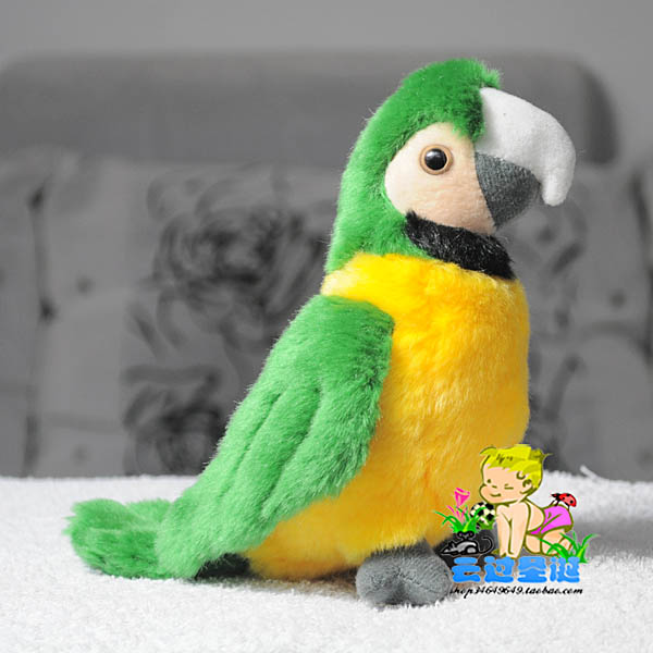 New Wwf plush bird doll kumgang parrot green parrot plush toy gift for child no100(China (Mainland))