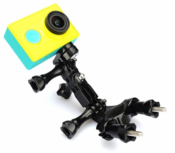 aluminum Bike Holder Adapter Seatpost Pole Set Handlebar go pro Mount clip for GoPro Hero 4 Sj4000 sj5000 Xiaomi Yi Accessories