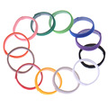 Wholesale 12 pcs Lot Puppy identification collar 12 colors Dog ID MAGIC TAPE Soft Breathable Adjustable