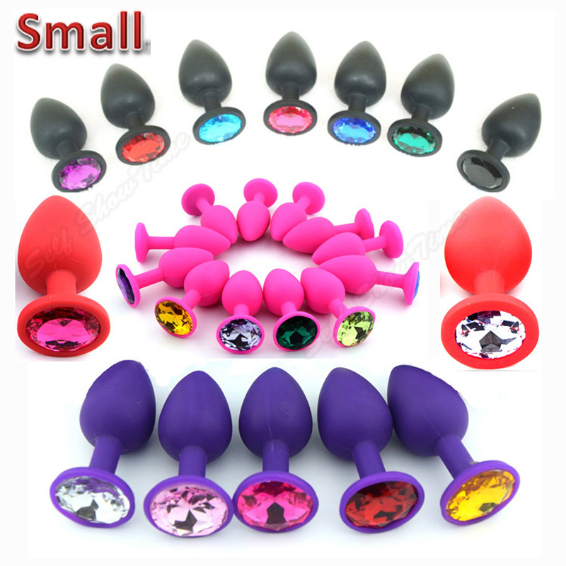 48 Colors Silicone Anal Sex Toys For Women & Men, Erotic Butt Plugs + Crystal Jewelry, Adult Booty Beads Anus Products,Anal Tube(China (Mainland))