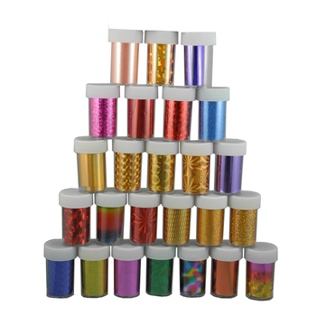New arrival 48 rolls/lot Nail Art Transfer Foils Set Free Adhesive Acrylic Gel System Tips Decoration