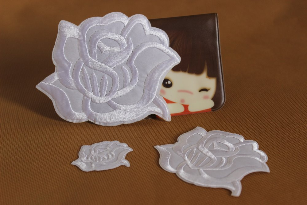 Lot of sets pcs set white rose brand patches sizes