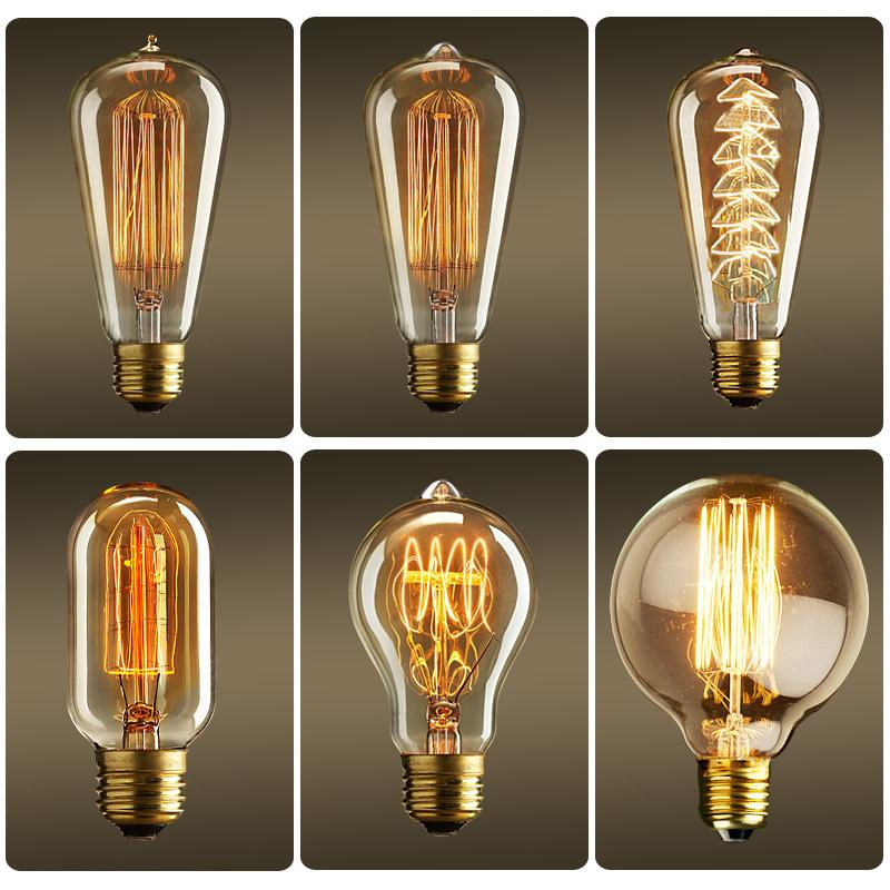 vintage edison bulb st48 light bulb e14 220v de