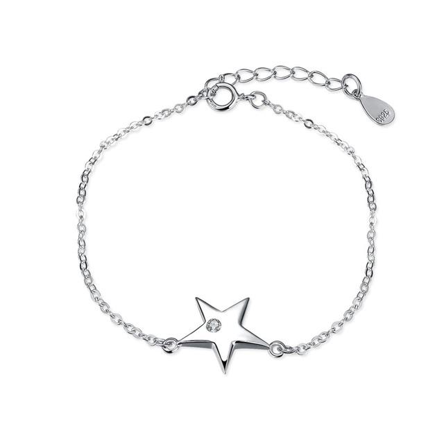 Новый оригинальный серебряные ювелирные изделия проложить CZ каменные уникальные звезды шарм браслеты , совместимой с DIY ювелирных
