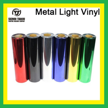 TJ hight-quality Metal light heat transfer vinyl one roll 25 meters hot sales six color(China (Mainland))