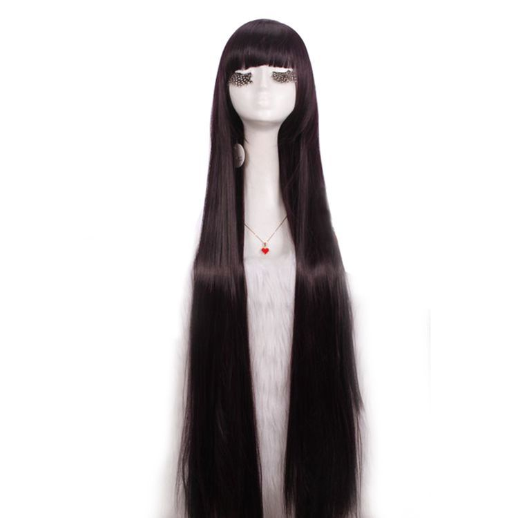 Free Shipping LOL Annie Shirakiin Ririchiyo Long Purple Black Straight Synthetic Hair Wig Cosplay perucas(China (Mainland))