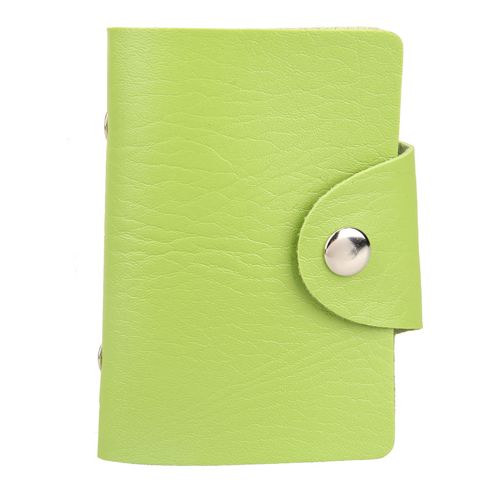 Гаджет  High Quality 12Card Position Faux Leather Card Holder Card Pack Card Protector Bag Green NG4S  None Камера и Сумки