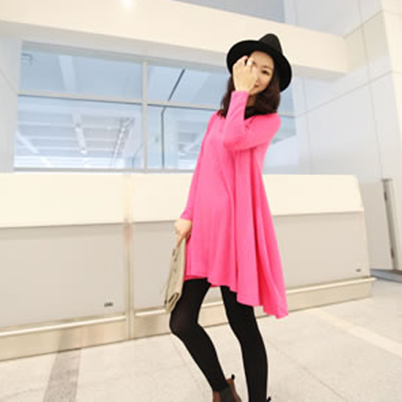 Autumn 2013 juniors clothing fashion street style solid color irregular plus size long t-shirt - Super Star World store