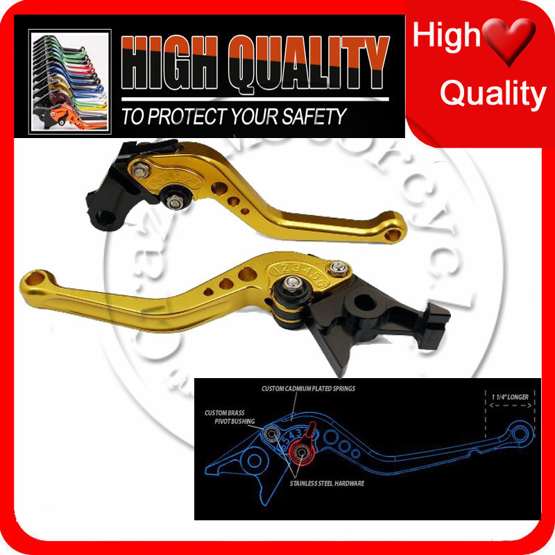 For Suzuki GSXR 600 750 1000 GSXR1000 TL1000S GSR 600 750 GSR600 GSR750 SFV 650 Short Brake Clutch Levers Gold Motorcycle NJ371