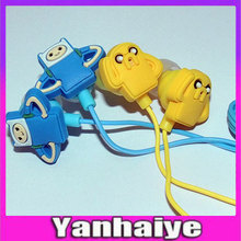 3.5mm  2 Earphone Adventure Time anime Finn And Jack Old Leather Dog Cartoon MP3/MP4 Player Game Mobile Phones Headphones